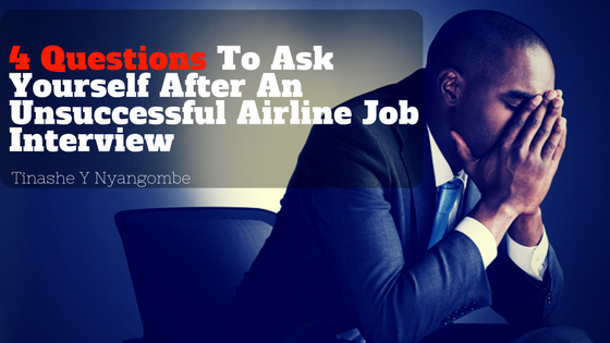 After the unsuccessful airline job interview